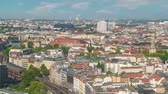 Berlin Germany time lapse 4K, high angle view city skyline timelapse