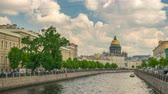 Saint Petersburg Russia time lapse 4K, Saint Isaac Cathedral timelapse