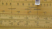 centymetr : Big and large yellow ruler for measurement. It has measurements in Meter Feet and inches Wideo