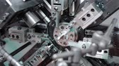 torsion : Automatic bending machine. Manufacturing of a torsion spring Stock Footage