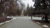 The place of the duel of the Russian poet Lermontov. The square in front of the commemorative stele in place of the death of the poet. Stok Video