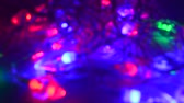 christmas light out of focused blur background