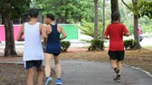 avant : The people Walking and jogging exercise for health in the BangYai park, Nonthaburi in Thailand. June 2, 2019