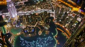 looking down from the burj khalifa at night
