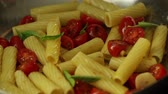 огонь : Putting Herbs on a Cooking Pasta
