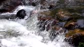Close up view of ripple of waterfall, the most powerful waterfall, River rapids from mountain spring. video 4k