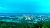 windy : (4k) Time lapse, Landscape of Chiang mai cityscape  and motion cloud mist, Thailand. Stock Footage