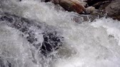 Close up view of ripple of waterfall, the most powerful waterfall , Slow motion