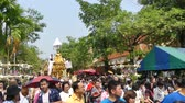 CHIANG MAI, THAILAND - APRIL 13, 2018 : Chiang mai Songkran festival.The tradition of bathing the Buddha Phra Singh marched on an annual basis. With respect to faith.