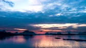 Sunrise at a small fishing village  in southern Thailand. Time lapse 4k format.