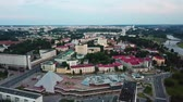 Evening panorama of the city of Vitebsk at sunset