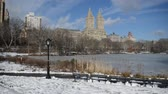 usa : Panning HD Video of Central Park and Manhattan skyline, New York City