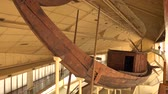 cypriot : Ancient Egyptian galley. Ancient ships in the museum.