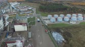 processado : Fat plant. Factory for processing fat and oil. Food industrial production. Stock Footage