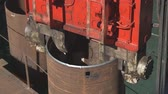 trumpet : Clogging of pile pipes in the base of the bridge supports. Equipment for piling of piles.