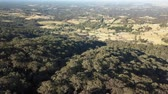 gerçek : Aerial view over the rural farmland of Kurrajong panning towards Grose Vale Stok Video