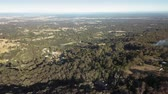 gerçek : Panning aerial view over Kurrajong, Grose Vale and the village of Bowen Mountain