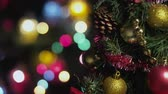 decorativo : Defocused Christmas tree with colorful flashlights