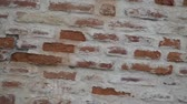 rachado : Old red brick wall in motion, design concept