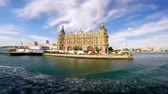 ISTANBUL TURKEY  MAY 29 2015: Haydarpasa Gar is a railway terminal in Istanbul.The station building built in 1909 by the Anatolian Railway as the western terminus of the Baghdad and Hedjaz railways Dostupné videozáznamy