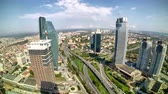 time lapse Istanbul levent skyscrapers traffic view Turkey Dostupné videozáznamy