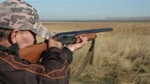 reed : a shot from a hunting rifle Stock Footage