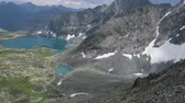altay : Picturesque turquoise Alla-Askyr lake scenic view. Altai mountains.