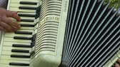 accordionist : Playing Accordion in Outside Stock Footage