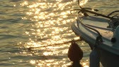 rybak : Fishing boat and sun reflection on sea