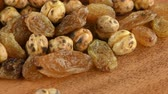 rozinky : Raisins and Chickpea Macro View