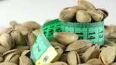 sports concept : The Pistachio and Measurement Macro View