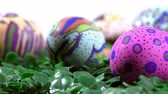 egg painted : Colorful Easter Paschal Eggs Celebration Stock Footage