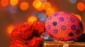 painted : Colorful Easter Paschal Eggs Celebration Stock Footage