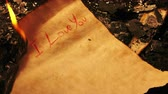 perkament : I love you Geschreven op oud papier is Burning Fire