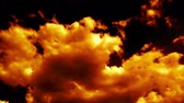 armageddon : Fire Burning like Hell Armageddon Clouds on Sky Stock Footage