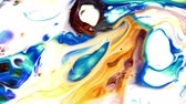 simir : Abstract Colorful Paint Ink Liquid Explode Diffusion Psychedelic Blast Stok Video