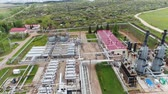 petrochemical : aerial view gas refinery plant with best modern equipment