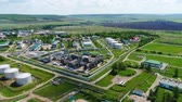 загрязнение : top view fuel processing factory Стоковые видеозаписи