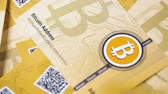 çekmek : slow motion macro bitcoin souvenirs created as cryptocurrency more attracting public attention fall on heap