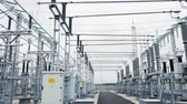 fiação : insulators on substation transforming energy