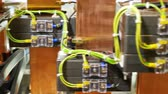 amper : wires connected to electrical equipment in switchboard Stok Video