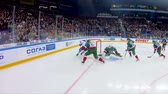 partida : hockey match between famous teams on modern ice arena Stock Footage