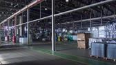 spedycja : timelapse motion along warehouse with finished containers