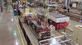 refrigerador : automatic production line in large workshop upper view