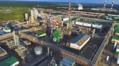 petroquímico : gas and oil refinery plant and heating station panorama
