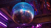 soir??e dansante : Beautiful Disco Ball Spinning seamless with flares.
