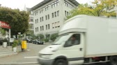 schweiz : Zurich From Tram Window Stock Footage