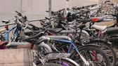 bisiklete binme : Bicycles On The Parking