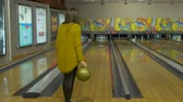 bowling alley : The Girl Playing Bowling
