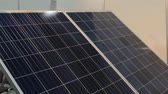 fotovoltaica : Solar Panel Tracking System Stock Footage